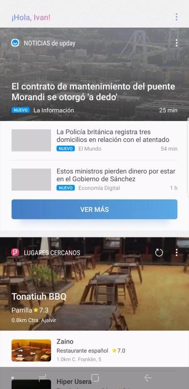Home Bixby en el Samsung Galaxy Note 9