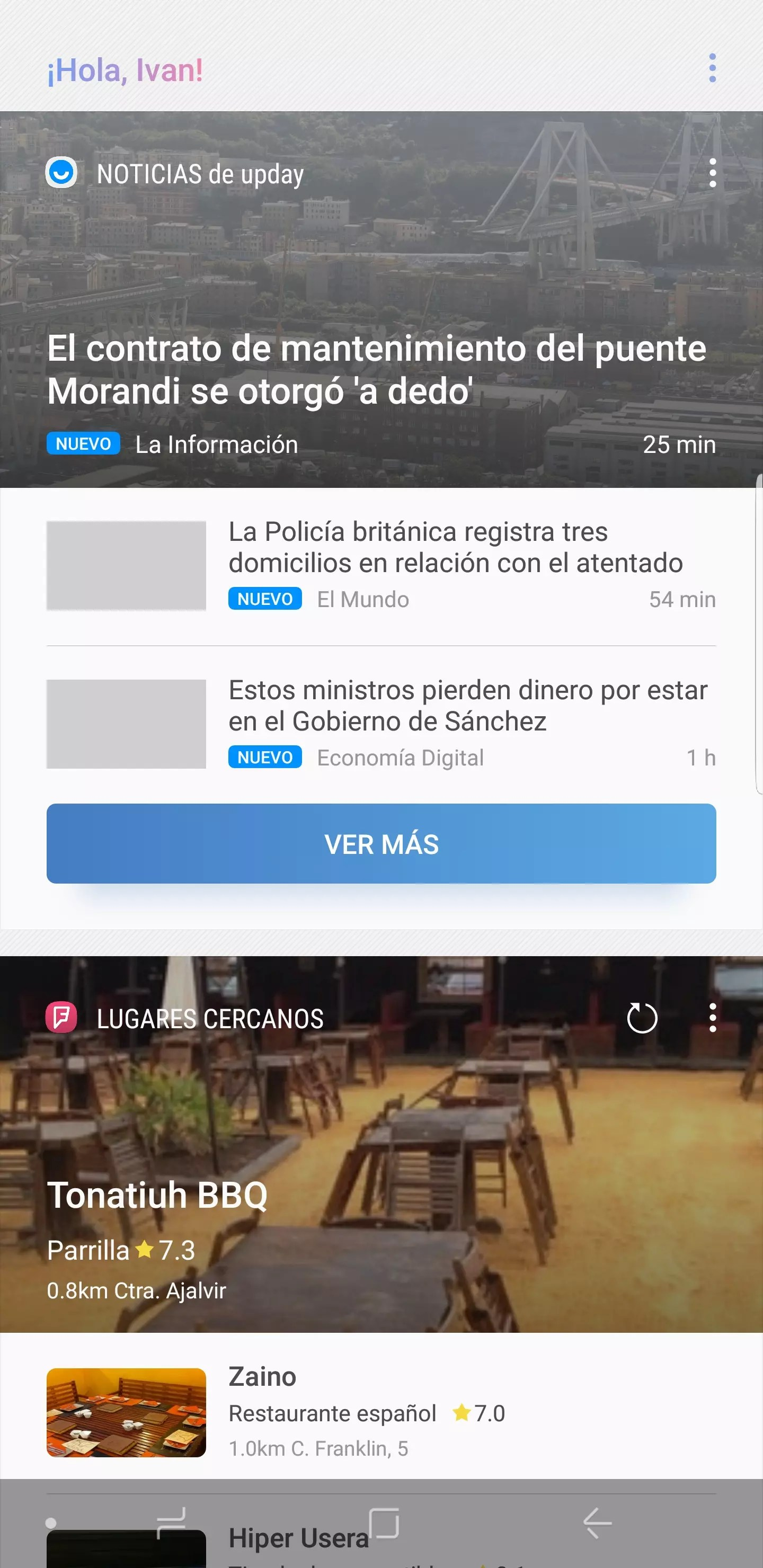 Home Bixby en el Samsung Galaxy Note 9
