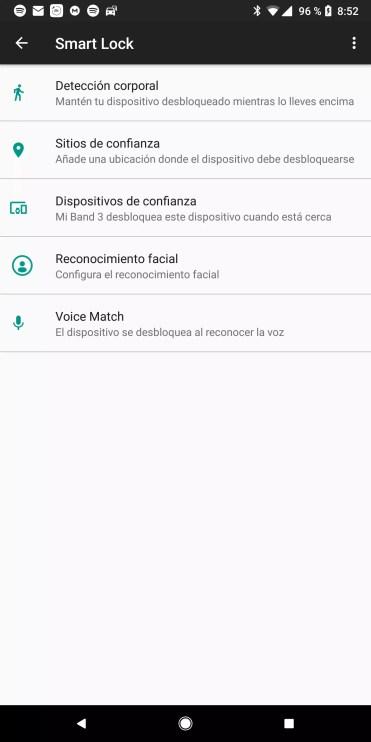 Uso de Smart Lock en Xiaomi Mi Band 3