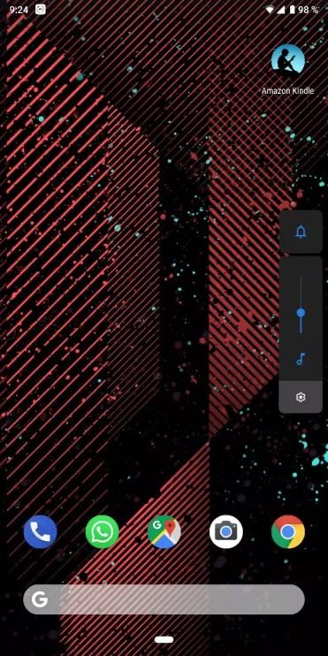 Volumen modo oscuro Android Pie