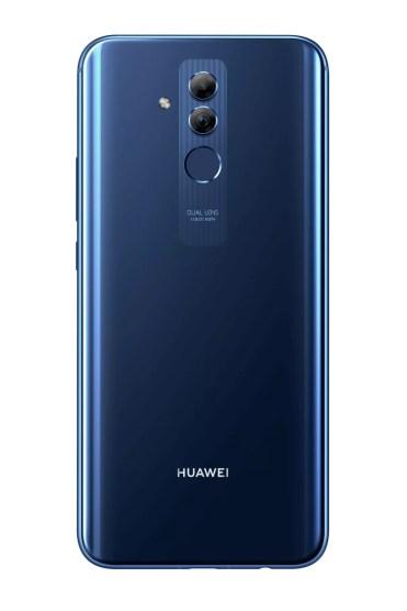 Trasera del Huawei Mate 20 Lite de color azul
