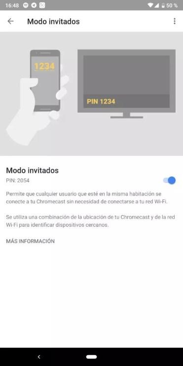 Modo Invitados Chromecast
