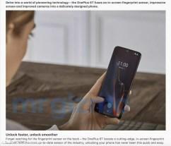 Lector de huellas del OnePlus 6T