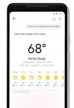 Tiempo asistente de Google