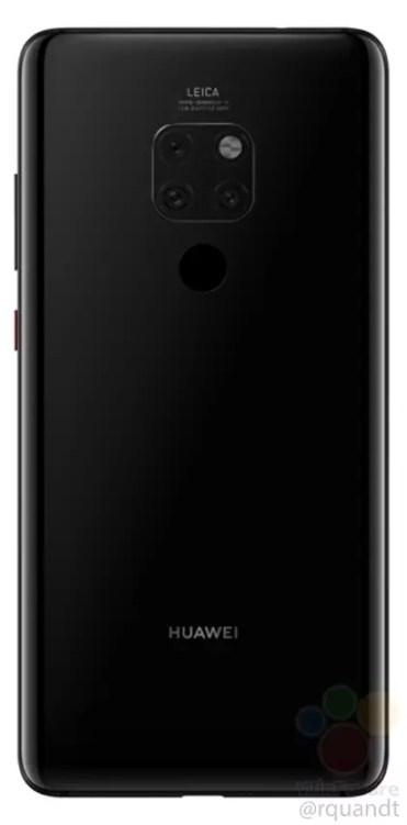 Imagen trasera del Huawei Mate 20 Pro