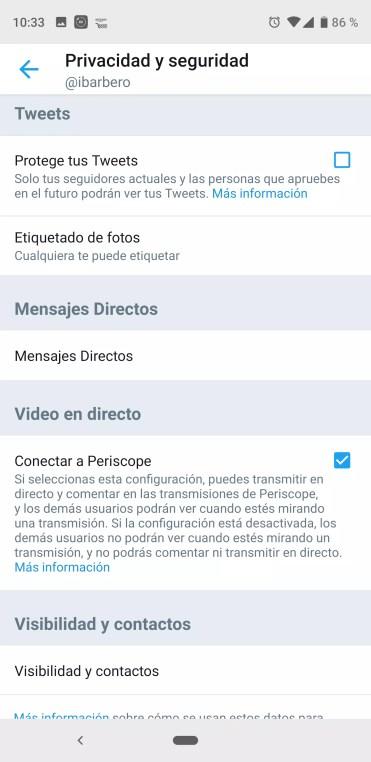 Aumentar privacidad de Twitter