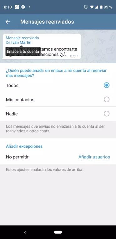 Reenvio Telegram