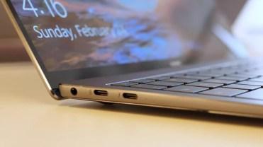 Puertos USB tipo C en el Huawei Matebook X Pro