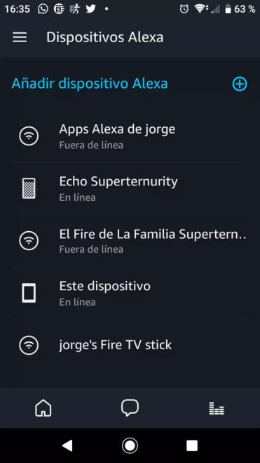 Añadir grupo en la aplicación Alexa