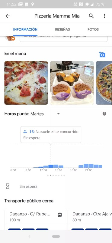 Horas Google Maps