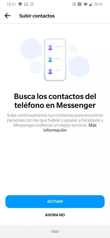 Contactos Facebook Messenger
