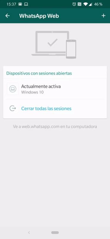 Lista de conexiones en WhatsApp