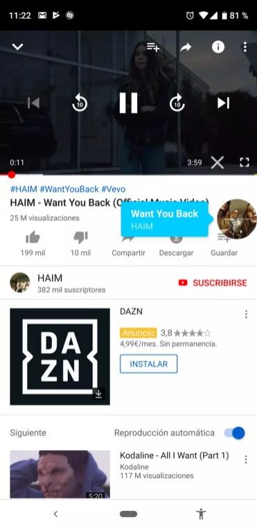 Uso de Shazam en una aplicación