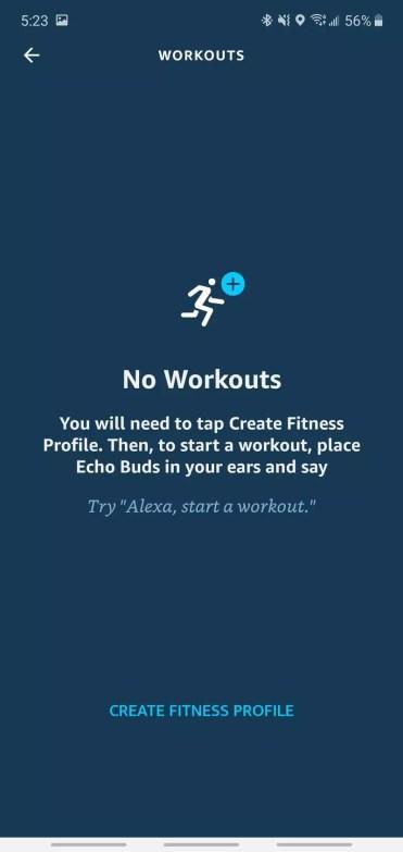 Ejercicio con los Amazon Echo Buds