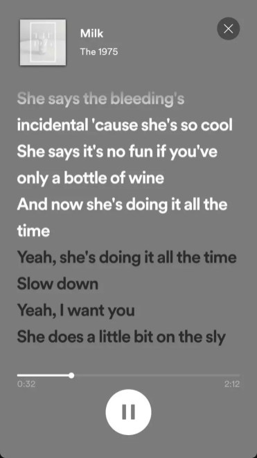 Ver letras canciones en Spotify
