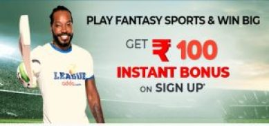 Sign up And Get Rs.100 On Leagueadda Fantasy Cricket