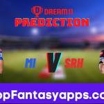 MI vs SRH Dream11 Team Prediction for Today's IPL Match