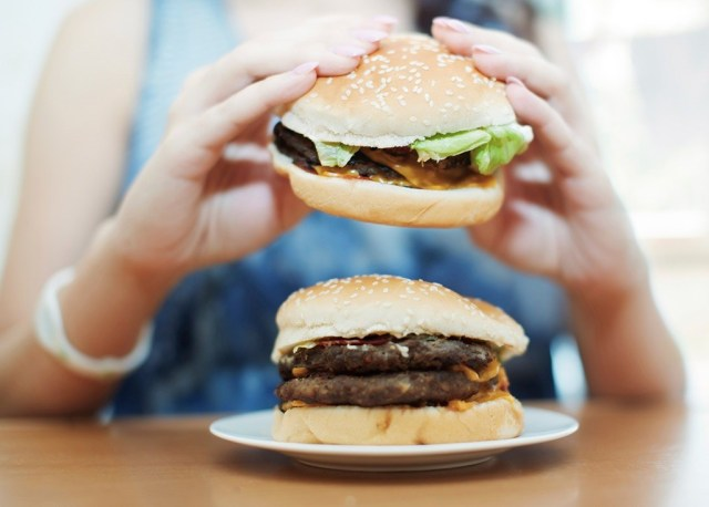 how to lose body fat - burger