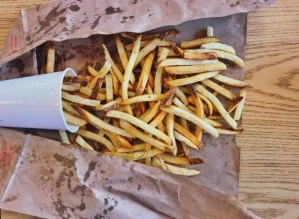 five guys large fries