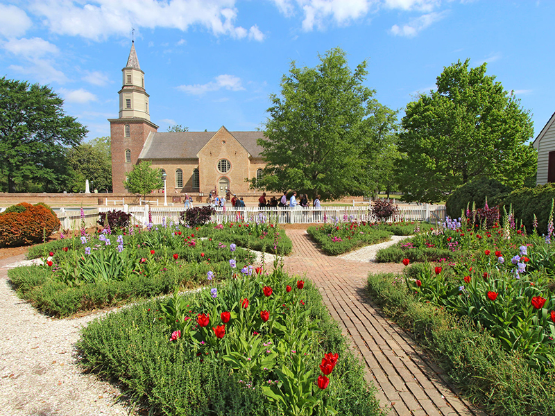 Gardens of Colonial Williamsburg. Photo: Stephen Goodwin