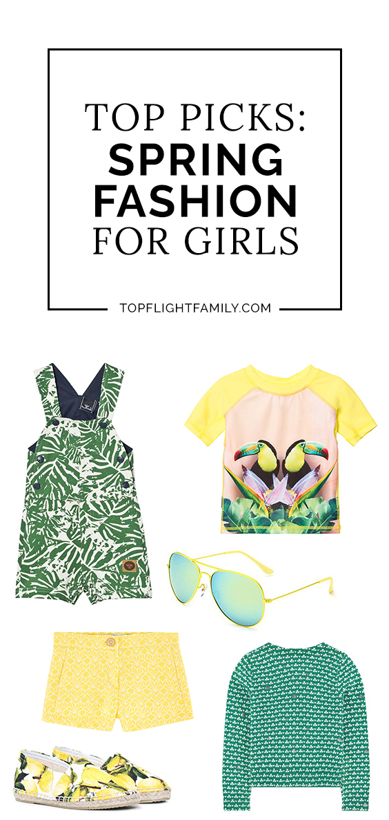 Get your little girl ready for warmer weather with this spring fashion guide, from girls spring dresses to sneakers, from cardigans to espadrilles.