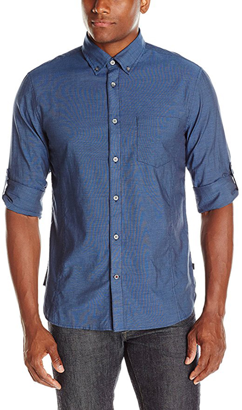 John Varvatos Men's End on End Sport Shirt