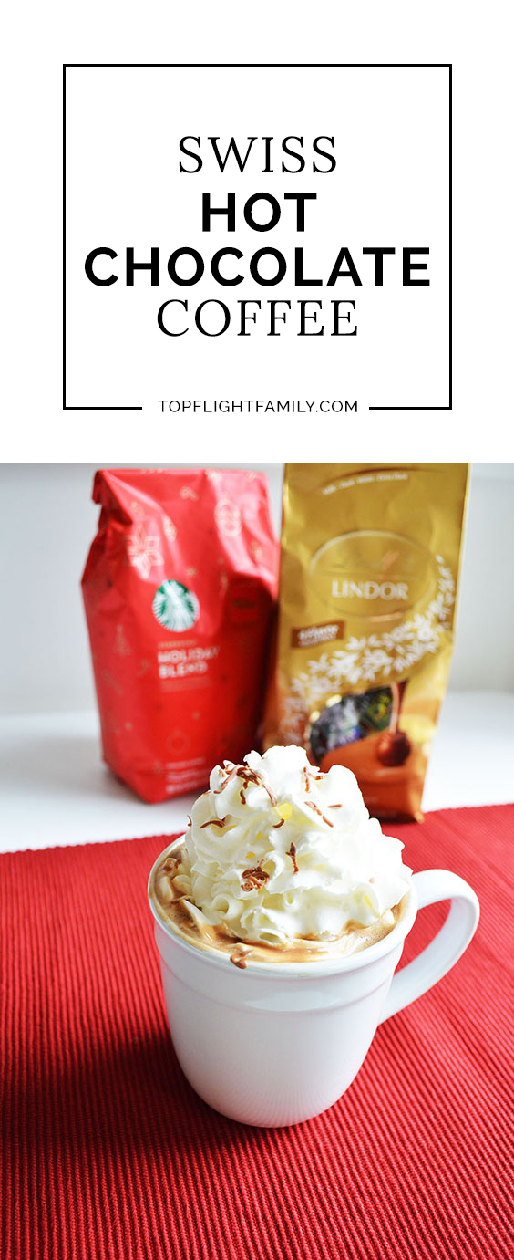 Why try Swiss Hot Chocolate Coffee? The sweet, rich taste of Lindt Lindor truffles brings out the maple flavor of Starbucks® Holiday Blend coffee.