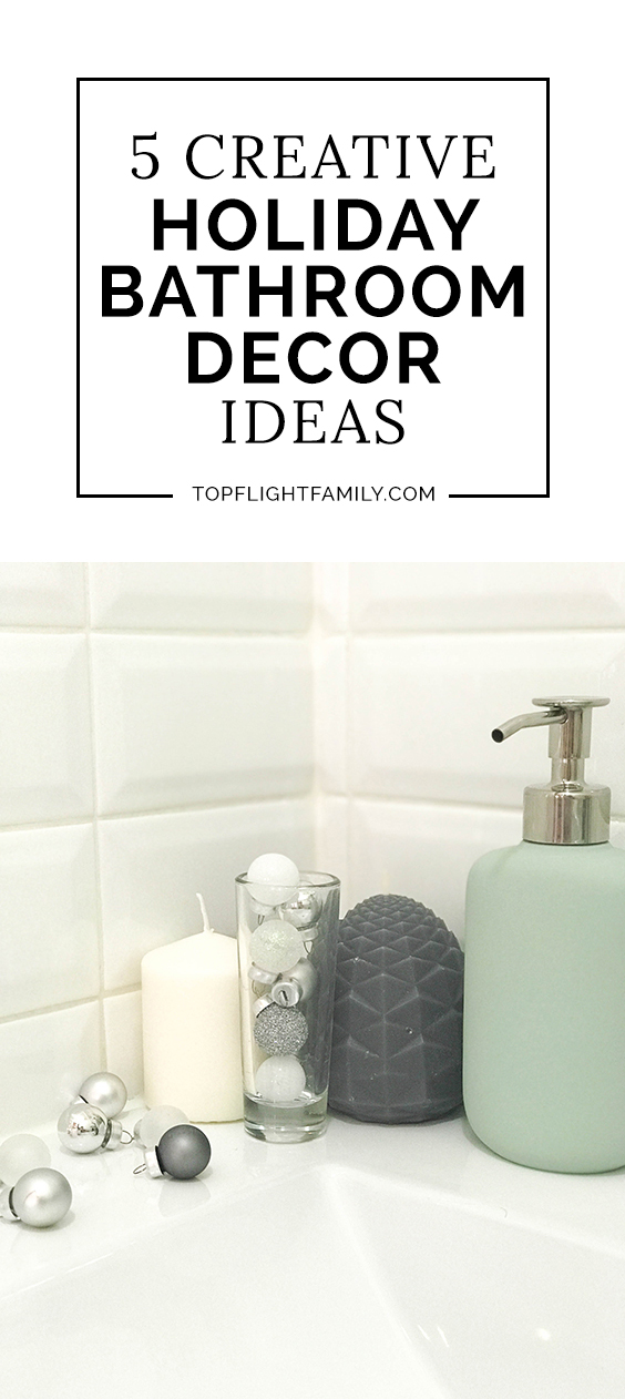 #ad Hosting season is here, and there's no better time to spruce up your powder room. Here are 5 holiday bathroom decor ideas to get ready for holiday guests.