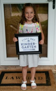 Emma starting Kindergarten
