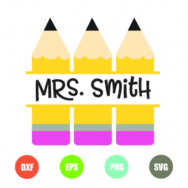 Pencil svg Pencil Monogram frame