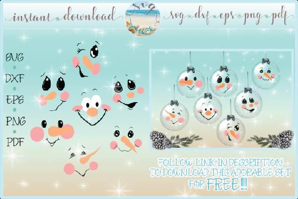 Free Snowman Bundle SVG - TopFreeDesigns