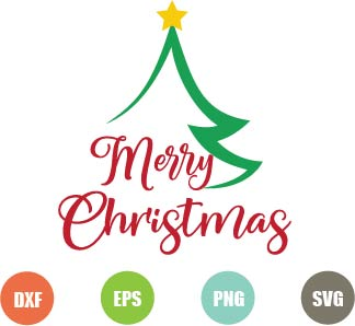 Free Merry Christmas Svg file for cutting machines
