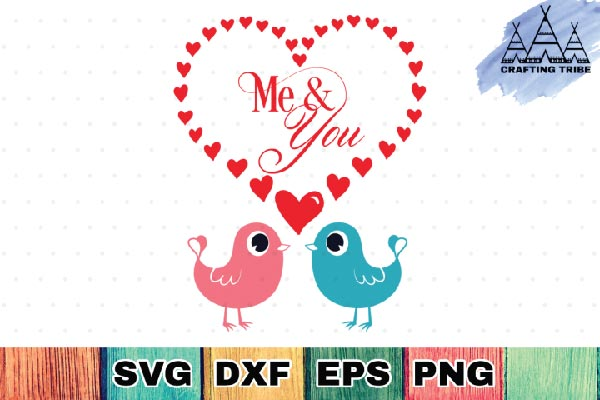 Free Me & You Svg File for cricut explore, silhouette cameo, sure cut a lot and more