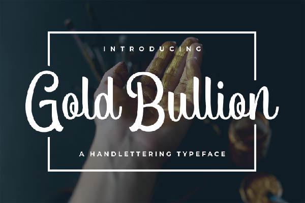 free Gold Bullion font