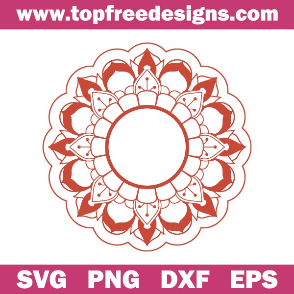 Free Mandala Svg File FOR CUTTING MACHINES LIKE cRICUT EXPLORE OR sILHOUETTE CAMEO