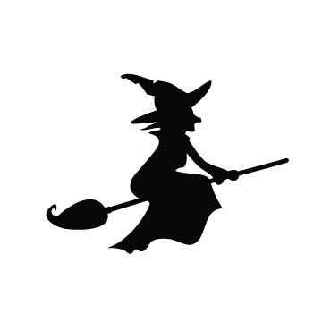 free Witch Silhouette svg file for cutting software like Cricut Silhouette ...