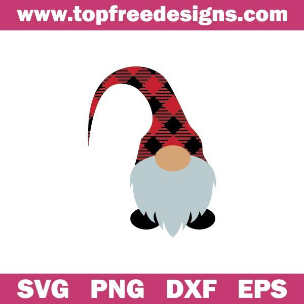 Free Christmas Gnome SVG File for cricut