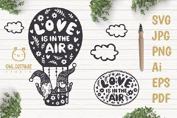 free love gnomes svg files for cricut