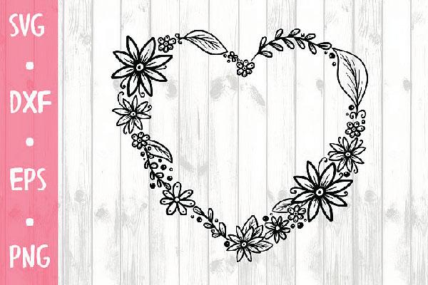 free Heart SVG FOR CRICUT, SILHOUETTE CAMEO ETC
