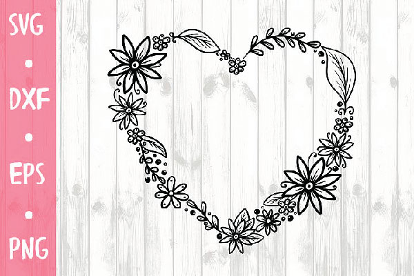 free Heart SVG FOR CRICUT, SILHOUETTE CAMEO ETC