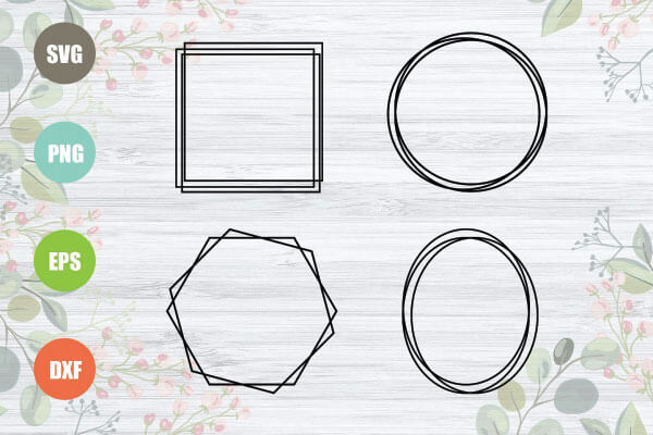Geometric Frames SVG Bundle