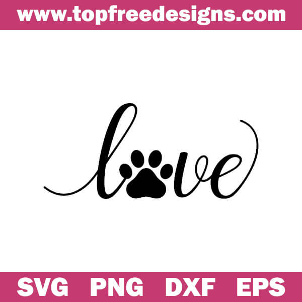 Love Paw Free Svg Files
