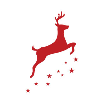 reindeer silhouette svg
