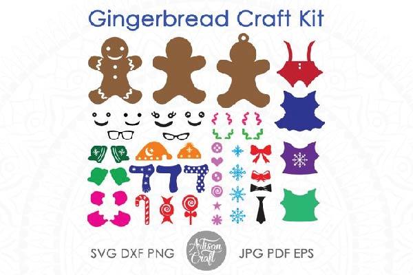 free Gingerbread man SVG kit