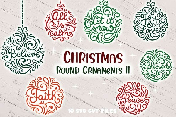 FREE Christmas Round Ornaments