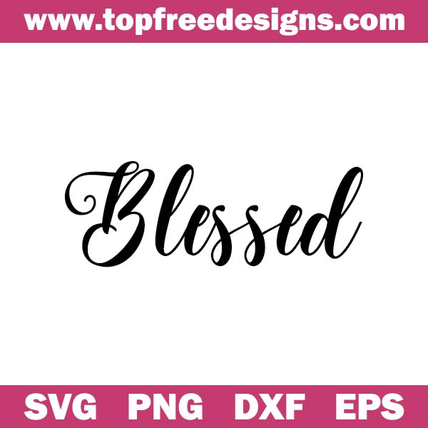 blessed svg free