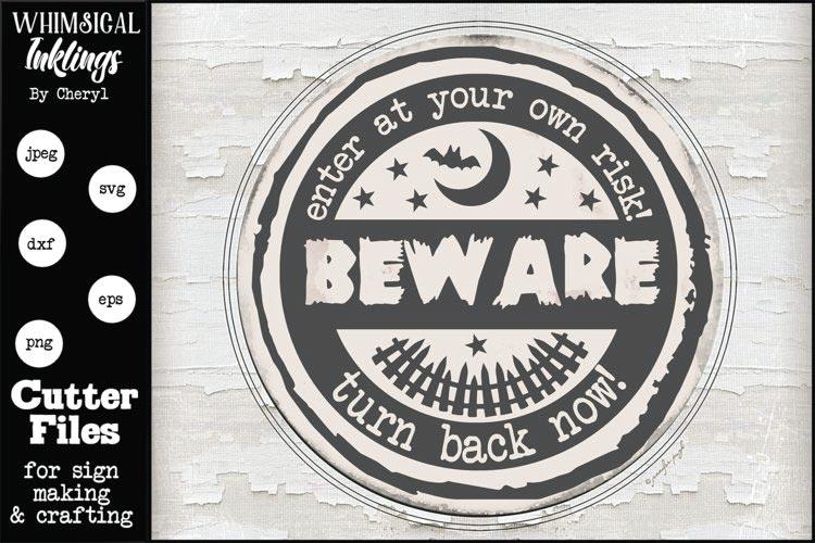 Beware- Halloween SVG free