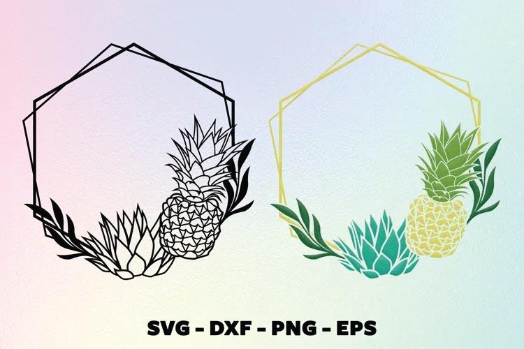 Pineapple frame svg free