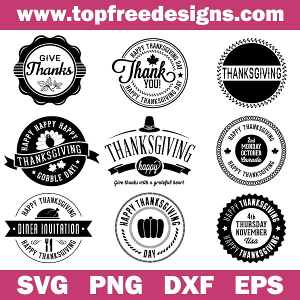 Thanksgiving badges svg