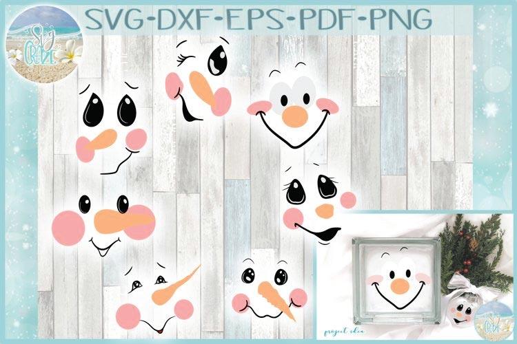 Snowman Face Bundle SVG free